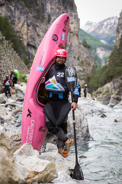 Eric Deguil / World Champion Kayaker / Hautes Alpes, France, 2015