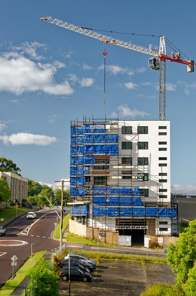 Working construction crane. Update 189. Gosford. February 2019.