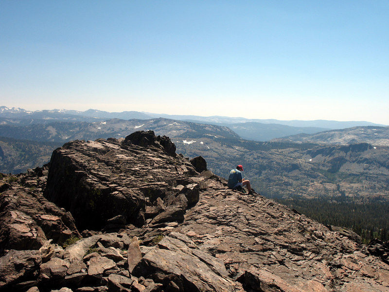 Catching some solitude near Tallac's summit. There were several dozen people up here today.
