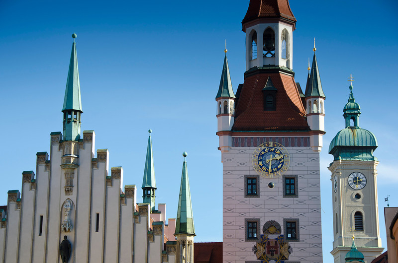 The old Rathaus (town hall), Munich, Germany.