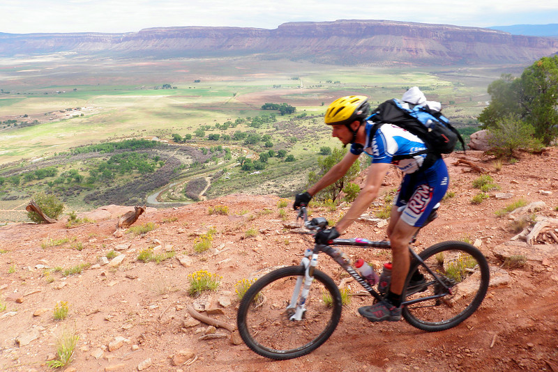 Day 5 Andrew Descending to the Hike-A-Bike