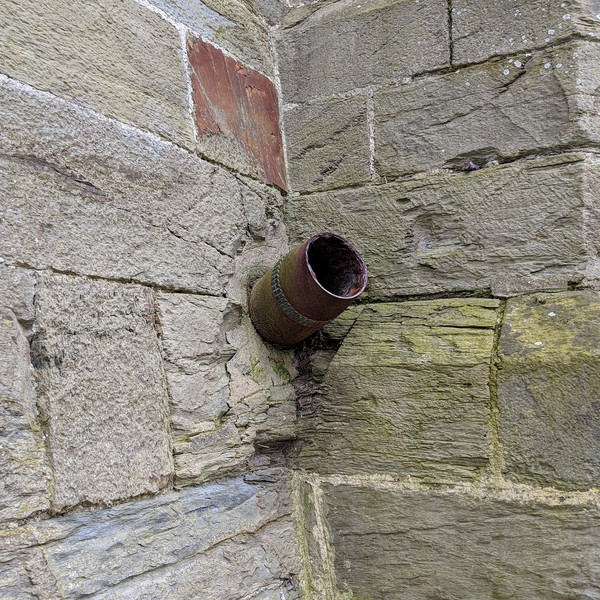 Shell still in church wall