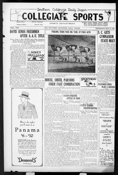 Daily Trojan, Vol. 17, No. 142, May 12, 1926