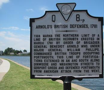 Arnold's British Defenses, 1781 in Portsmouth *