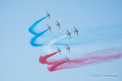 Graphisme aérien - Patrouille de France