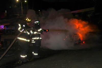 3-11-17 Dumpster Fire, Roa Hook Road, Photos By Bob Rimm