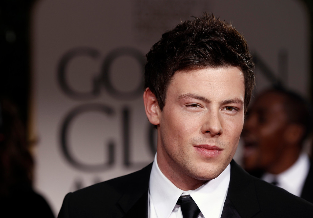 . Cory Monteith arrives at the 69th Annual Golden Globe Awards Sunday, Jan. 15, 2012, in Los Angeles. (AP Photo/Matt Sayles)