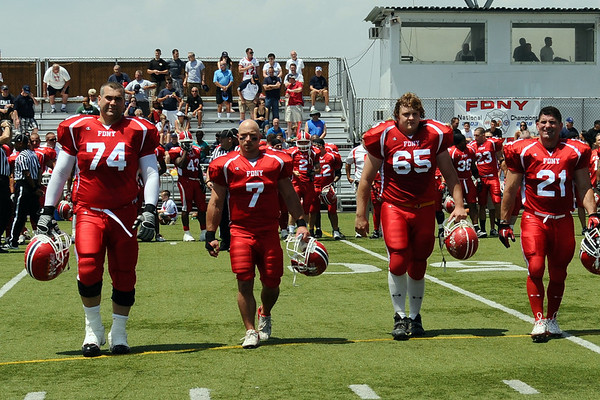 FDNY vs LAPD Before the Game / Coin Toss and trophy etc.