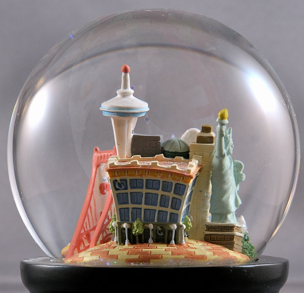 1 June 2010: Seattle in a snow globe.