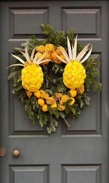 Handmade Holiday Wreaths & House Decorations