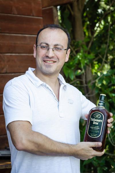 Dima Krasnopolsky with own moonshine