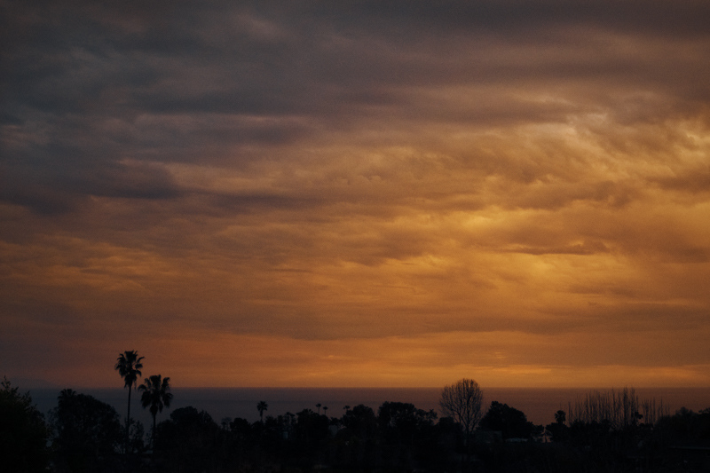 March 5 - Sunset active with angry clouds foreshadowing the upcoming lightening storm.jpg
