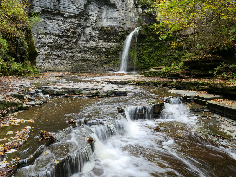 Eagle Cliff Falls in Montour Falls, New York