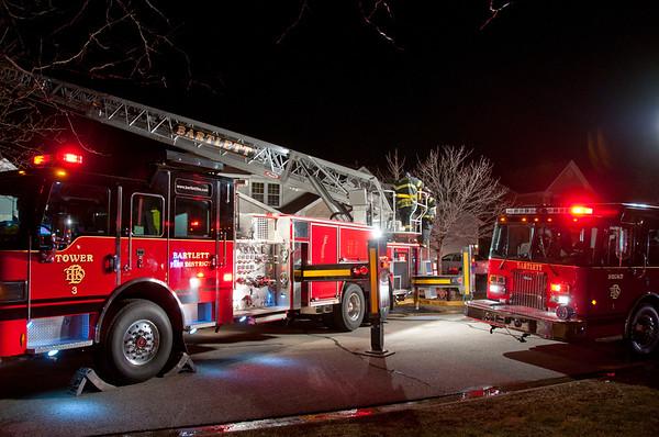 Bartlett Residential Garage fire - Jan. 3, 2011