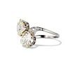 5.15ctw Old European Cut Diamond Toi et Moi Ring 1