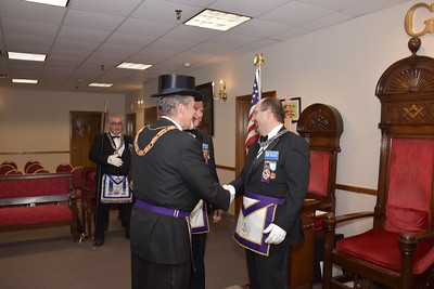 Official Visit to Simitar Lodge by DDGM John E Kelley