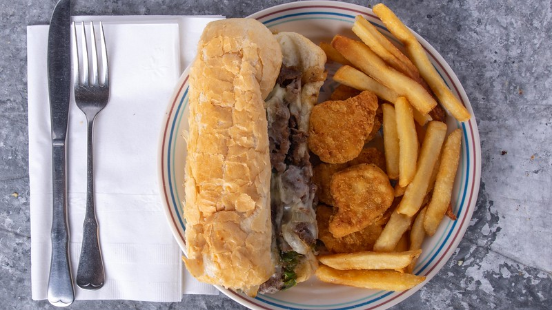 Philly Cheese Steak Burger n Chicken Tender and Fries.jpg