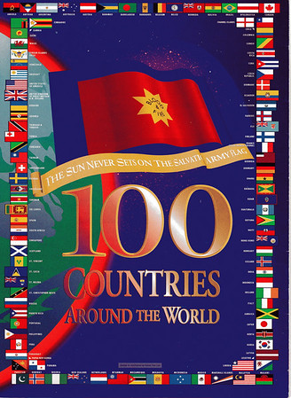 100 Flags Poster