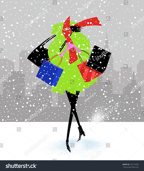 stock-photo-fashion-illustration-of-a-chic-woman-walking-in-the-snow-with-shopping-bags-in-the-city-737212330.jpg