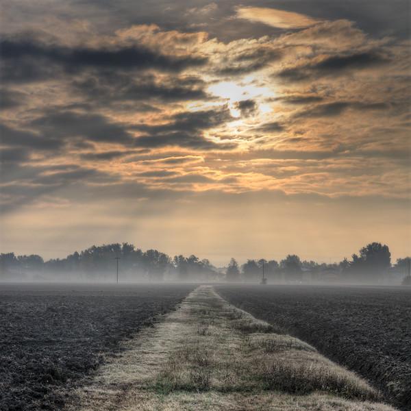 Morning Mist - Near San Damaso, Modena, Italy - October 28, 2011
