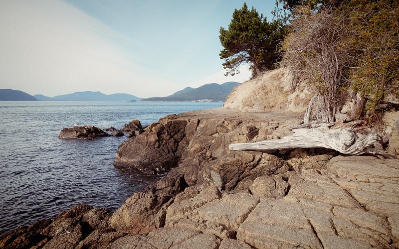 Rocky beach area in Washington Park, Anacortes, Washington.