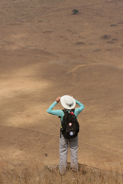 Checking out the crater