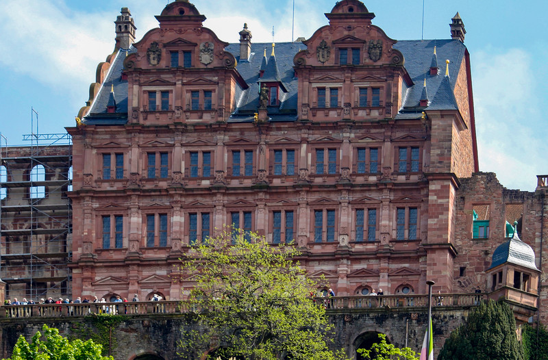 The castle terrace, from Altstadt (old town) in Heidelberg