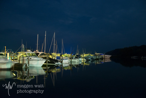 Leland Harbor After Dark