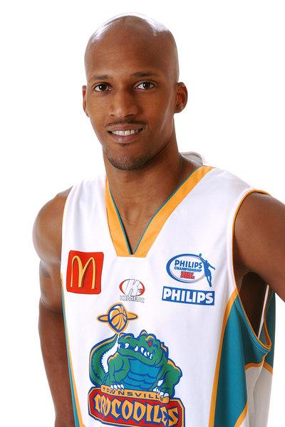 22 AUG 2006 - Jelani Gardner (Guard, 198cm, 93kg) - Away Playing Strip - Townsville McDonald's Crocodiles players/staff photos - PHOTO: CAMERON LAIRD (Ph: 0418 238811)