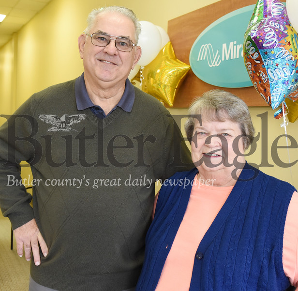 Harold Aughton/Butler Eagle:  George and Carol Pyle are heading to Hawaii compliment of the Butler Miracle Ear office in Moraine Point.