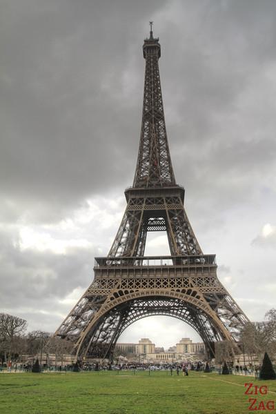 Spot to photograph Eiffel Tower: Champs de mars front