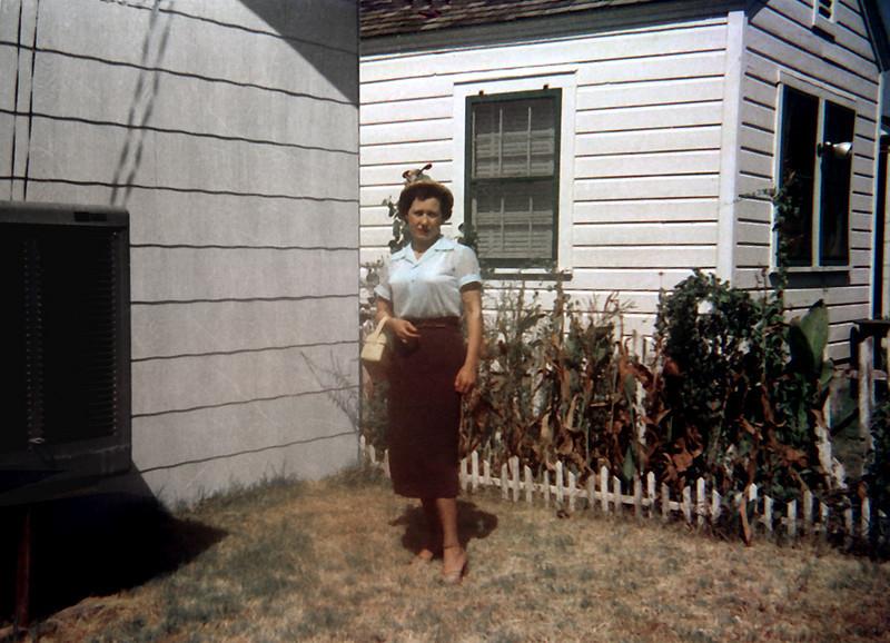 In the backyard, Jeff St, c 1955