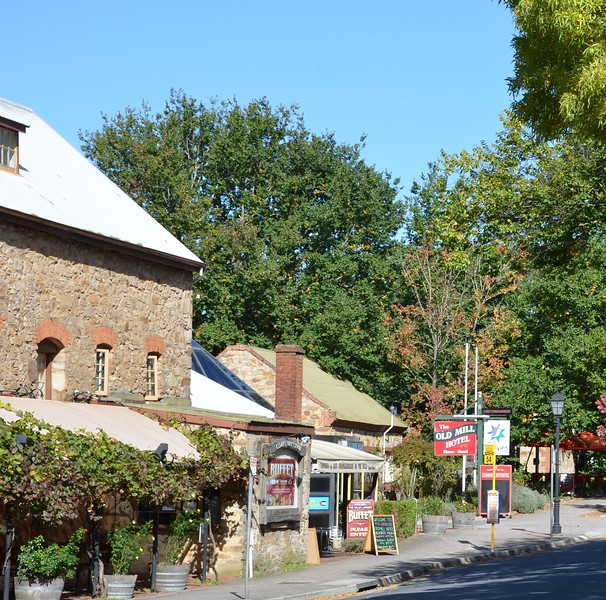 German village with stone buildings