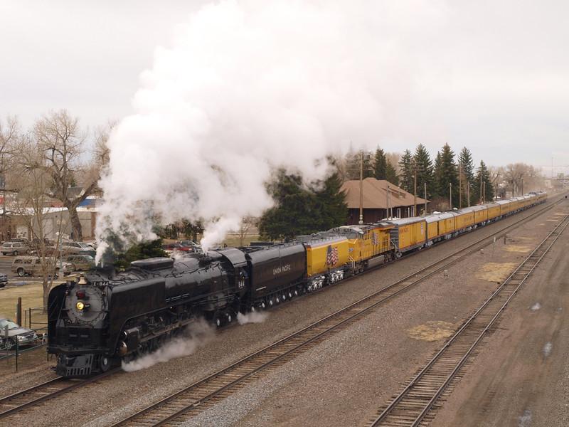 Engine 844 visits Laramie
