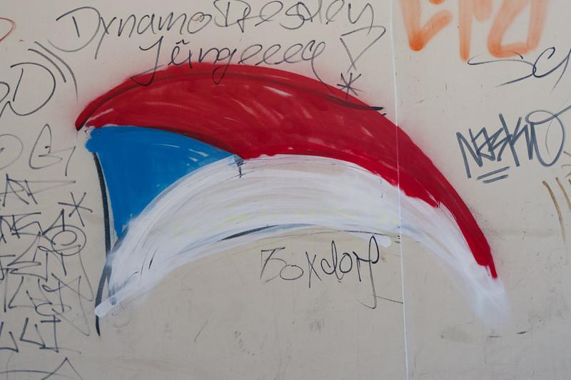 Graffiti on the wall - Prague, Czech Republic