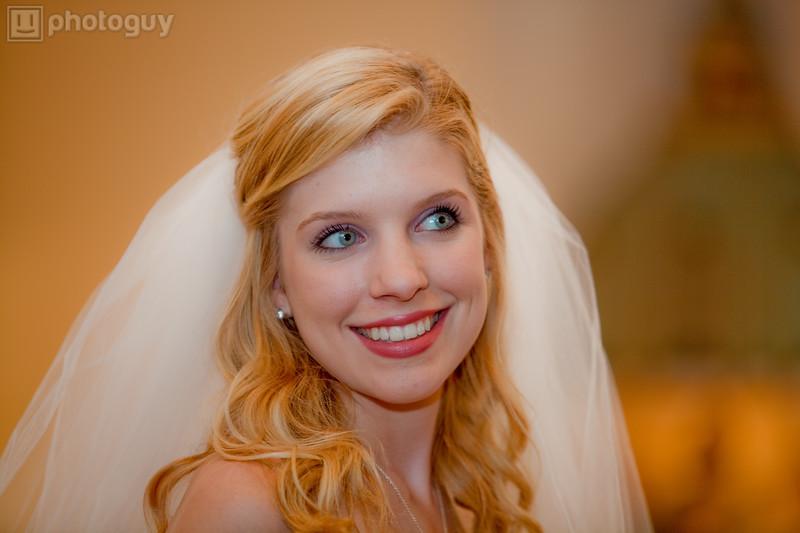 A beautiful bride at church during wedding-2