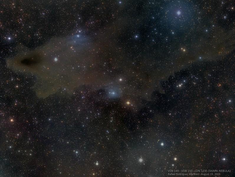 VDB 149 - VDB 150 -LDN 1235 (SHARK NEBULA)
