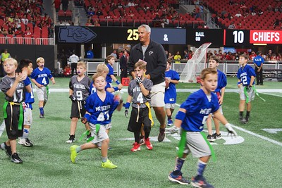 Flag Football Players at Falcons Game