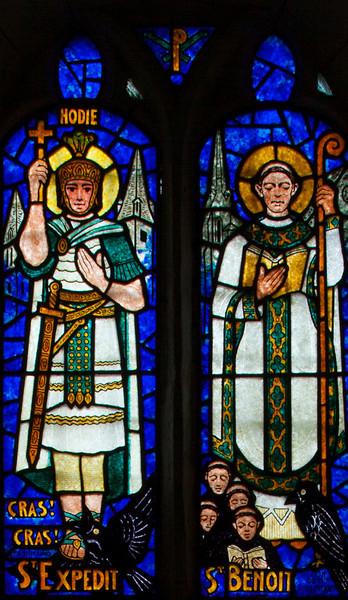 Saint-Etienne-l'Allier, Eglise Saint-Etienne - Saints Expedit and Benoit