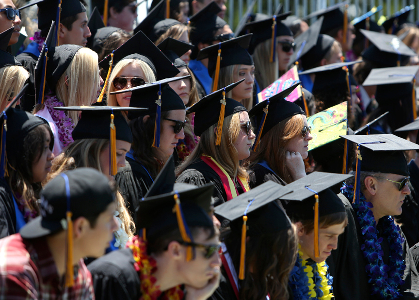 . Hundreds of students graduated from UC Santa Cruz\'s College Eight on Saturday. (Kevin Johnson/Sentinel)