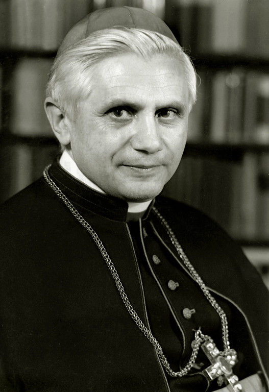 . A portrait taken in 1996 shows German Cardinal Joseph Ratzinger. Ratzinger was elected the 265th pope of the Roman Catholic Church 19 April 2005 at the Vatican City, becoming Pope Benedict XVI. /AFP/Getty Images