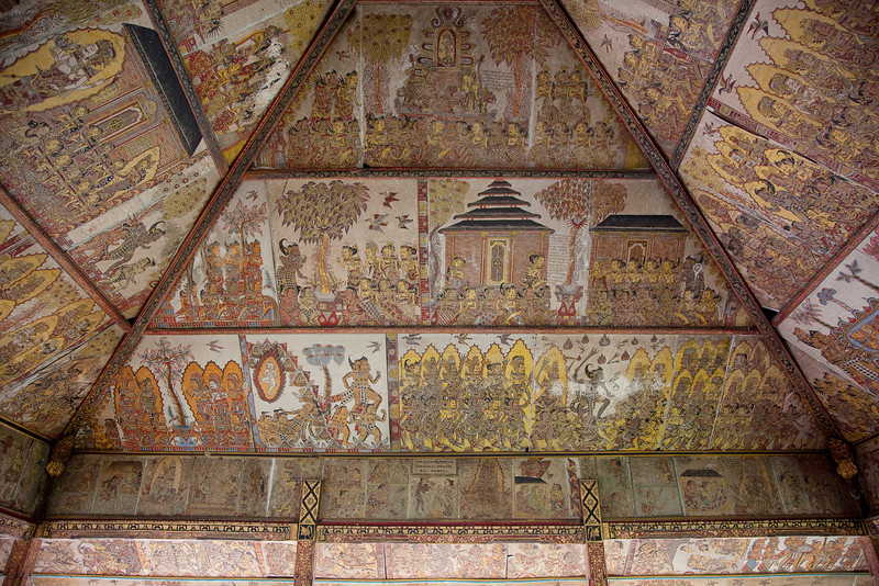 Ceiling at Pura Samuan Tiga Temple