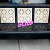Vintage Metal Glider Sofa