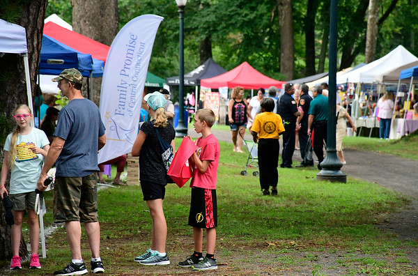 8/18/2018 Mike Orazzi | Staff The Bristol West End Association's seventh annual summer festival at Rockwell Park Saturday.