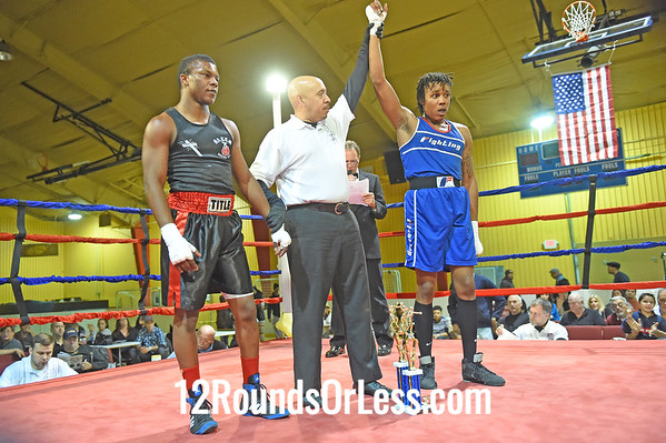 Bout 5 Terrell Ross(Blue Gloves), MLK Civic Center/ Premier BC -vs- Mardell Hollis(Red Gloves), Salem BC, 152 lbs, Novice Bout