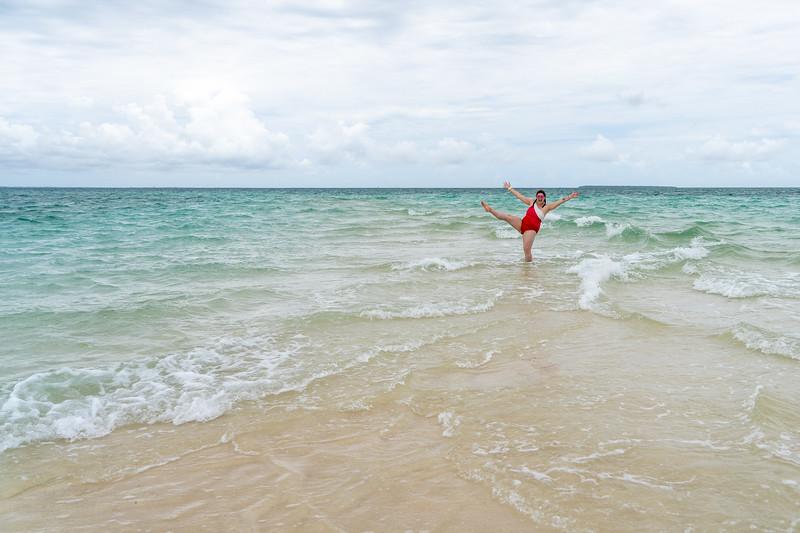 Exploring a sandbar in Zanzibar