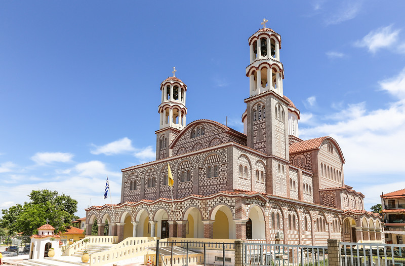 church with two bell towers and ornate exterior
