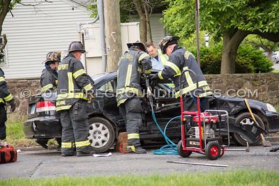 Noble Ave. Extrication (Bridgeport, CT) 6/8/15