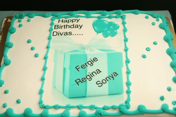 HBD Divas Fergie Regina and Sonya