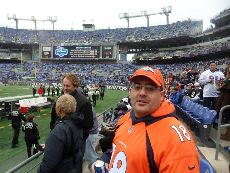 . A proud Broncos fan in Ravens nation. Eric Ward